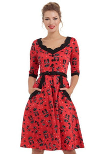 Katnis Cats In The Rain Plus Size Flared Dress