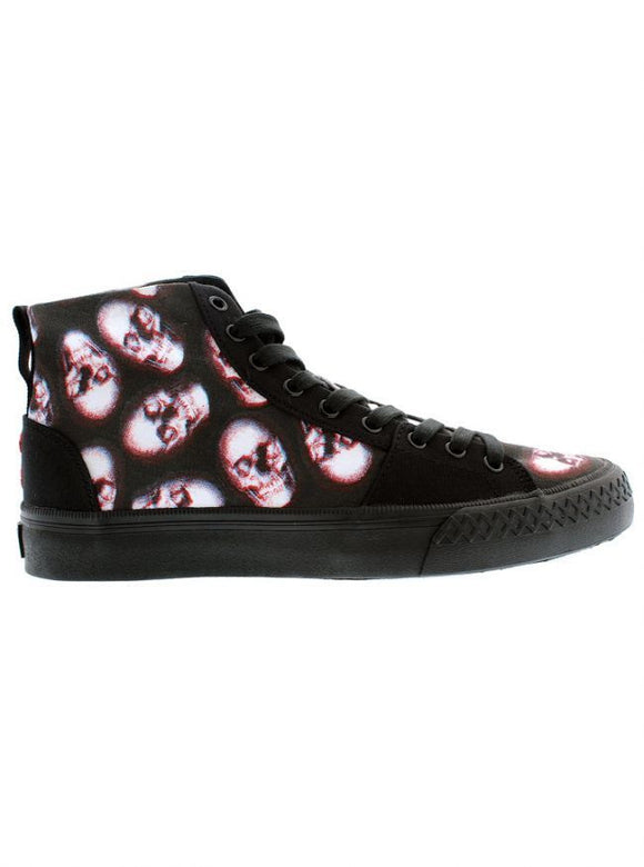Skull Of Doom Broadway Hi Top Shoes