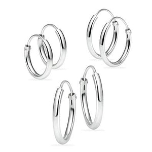 Tiny Sterling Silver Hoop Earrings