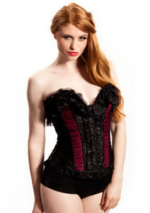 Bedroom Stories Corset  Black / Burgandy