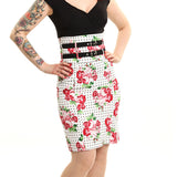 Alyson Skirt Ladies Rose Polka White