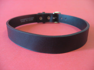 Black Plain Leather Choker