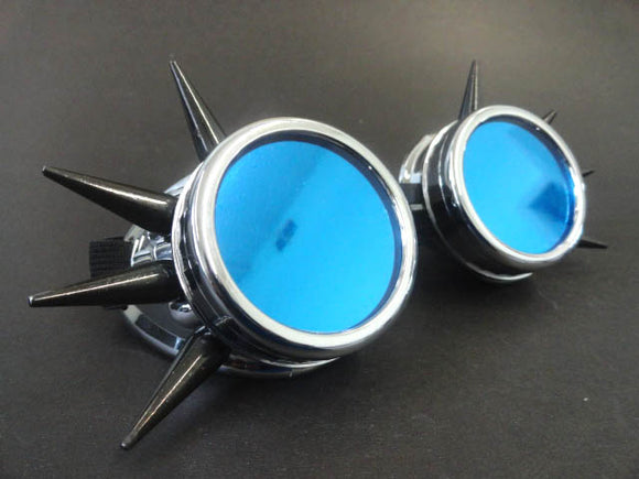 Cyber Goggles with Fluorescent Blue Acrylic Lenses