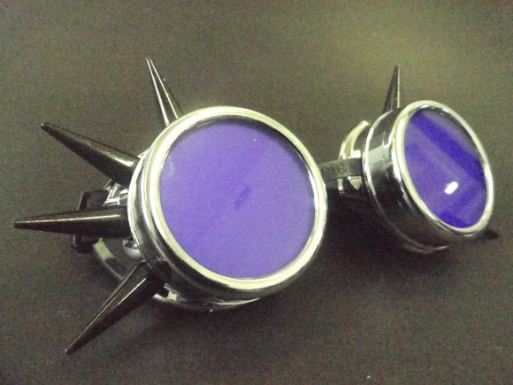 Cyber Goggles with Transparent Purple Acrylic Lenses
