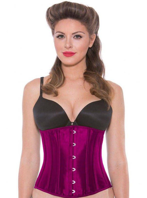 Women's Satin Steel Boned Waist Cincher