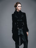 BLACK VINTAGE GOTHIC SWALLOW TAIL JACKET
