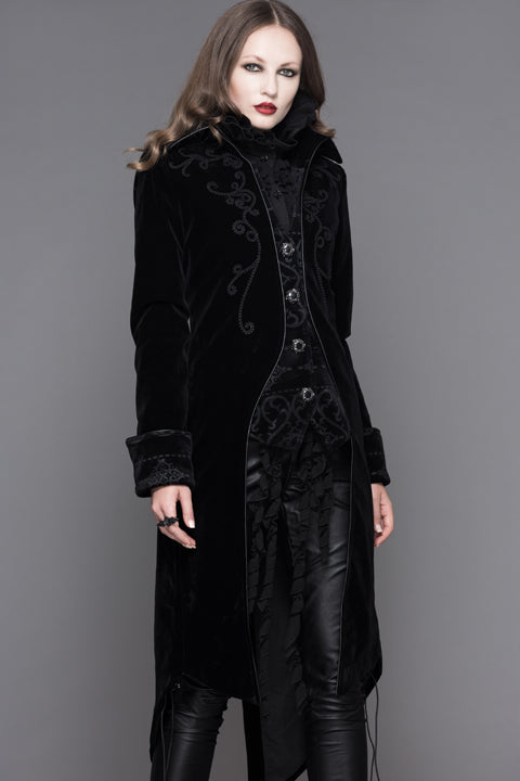 BLACK GOTHIC PALACE STYLE LONG COAT