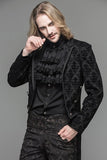 MEN'S BLACK GOTHIC VINATGE PATTERN JACKET