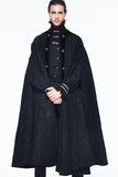 BLACK GOTHIC LONG CAPE CLOAK