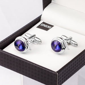 Ab Crystal Cufflink French Shirt With Gift Box