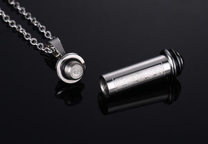 "Stainless Steel Perfume Bottle Pendant With 20"" Chain"