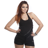 Janette Gothic Top Ladies Black