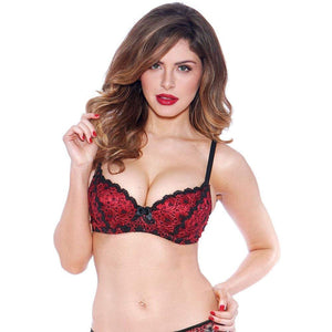 Bedroom Stories Red Sparkles Bra