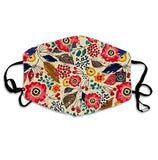 Washable Reusable Fabric Mask Unisex With Pocket-8 & 5 Filters