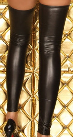 Gothic Punk Wetlook PVC Leggings