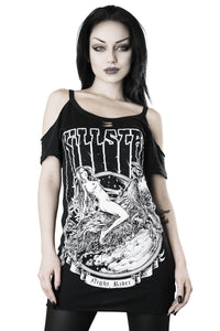 Killstar Night Rider Distress Top