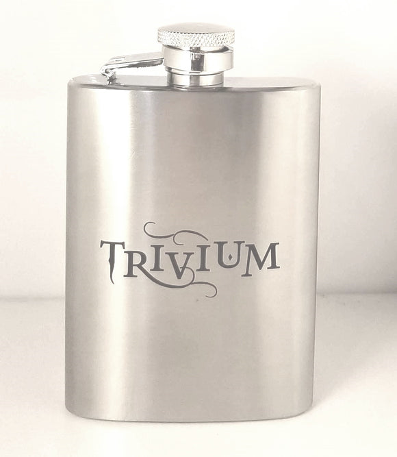 Stainless Steel Pocket Flask W/ Trivium Logo