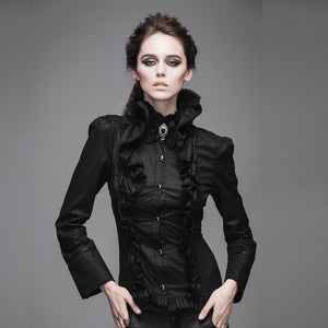 Gothic Long Sleeve Top Corset Back
