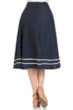 Naomi  Nautical Print Swing Skirt