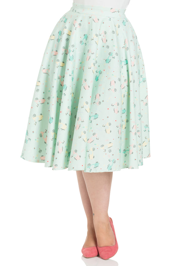 6c5c0146d46 Lilly Retro Scooter Print Swing Skirt