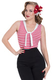 Haili Nautical Stripe Top