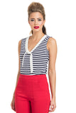 Haili Nautical Stripe Top B/W