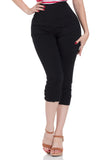 Holly  Black Capri Pants