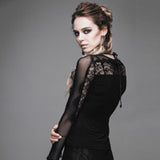 Gothic Long Sleeves Top With Lace