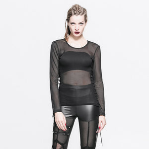 Gothic Fishnet Unisex Long Sleeve Top