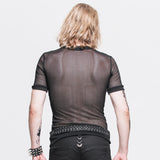 Gothic Fishnet Men's Short Sleeve Top