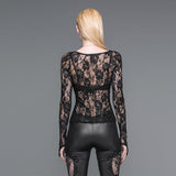 Gothic Lace Long Sleeves Top