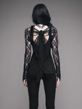 Gothic Top With Lace Sleeves