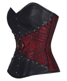 RED AND BLACK GOTHIC OVERBUST CORSET