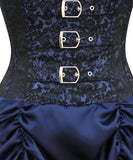 Blue Victorian Overbust Corset steel bone Dress