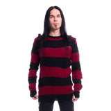 Ammo Gothic Men's Black/Red Sweater