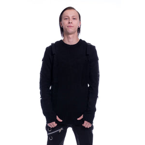 AMMO GOTHIC MENS M-SWEATERS BLACK