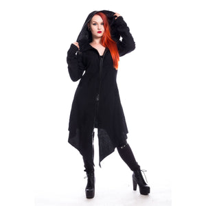 Arch Angel Gothic Cardigan Ladies Black