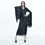GOTHIC WITCH VAMPIRE HOODED LONG DRESS