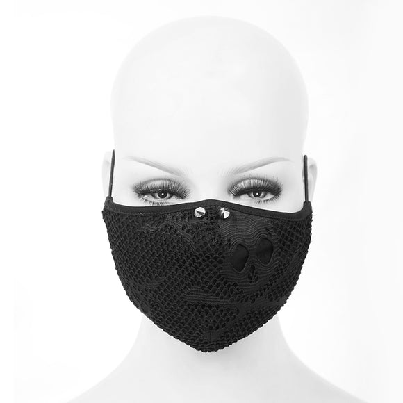 Washable Reusable Gothic Fabric Mask With Spikes Unisex