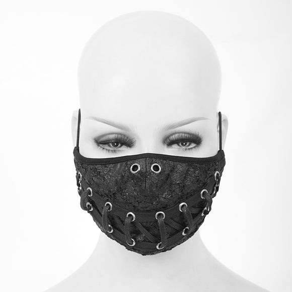 Washable Reusable Gothic Fabric Mask Laced Unisex