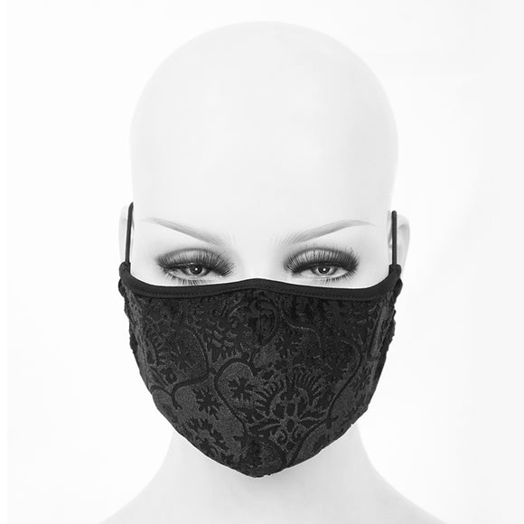 Washable Reusable Gothic Fabric Ornate Mask Unisex