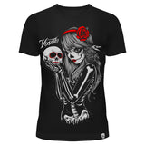 CROW GOTHIC GIRL W-TEE LADIES BLACK