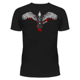 Crow Gothic Girl T-Shirt Ladies Black