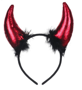 Metallic Red Devil Horn