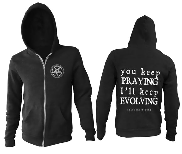 Blackcraft Keep Evolving Zip Up Men's Hoodie