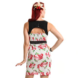 Ophelia Dress Ladies Rose Polka White