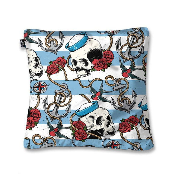 Pillow Cover Nautical Skull