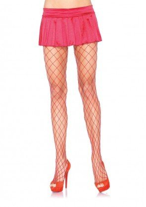 Red Diamond Fence Net Pantyhose