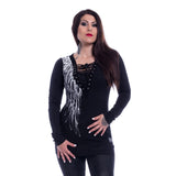 Shadow Gothic Angel Sweaters Ladies Black