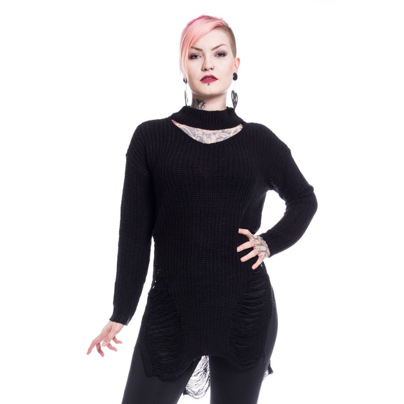 SLIT NECK DECAY JUMPER DRESS